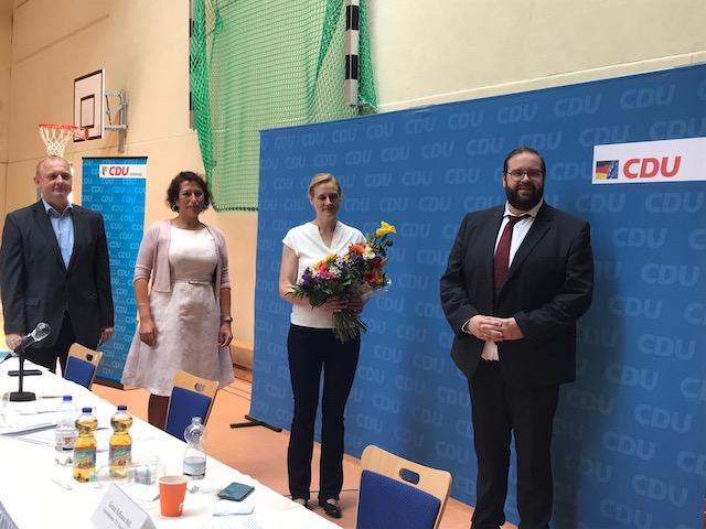 Danko Jur Kreisvorsitznder CDU Barnim, Kristy Augustin MdL Kreisvorsitzende CDU MOL, Dr. Sabine Buder, CDU Generalsekretär Gordon Hoffmann MdL