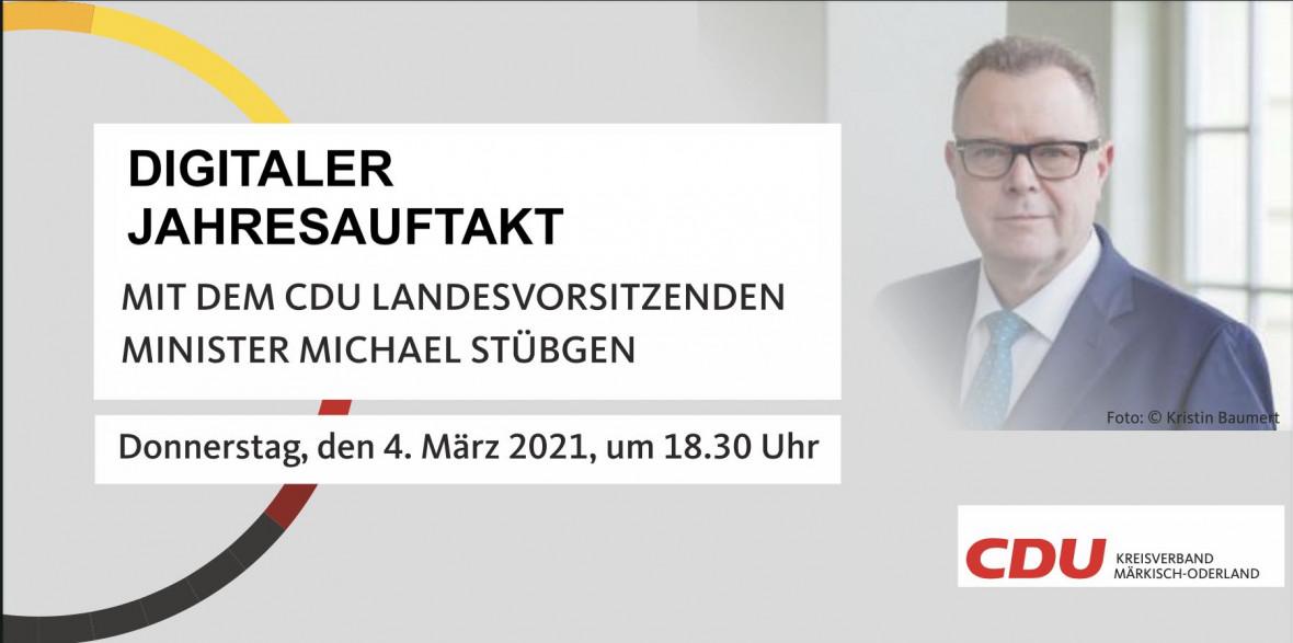 Digitaler Jahresauftakt CDU MOL