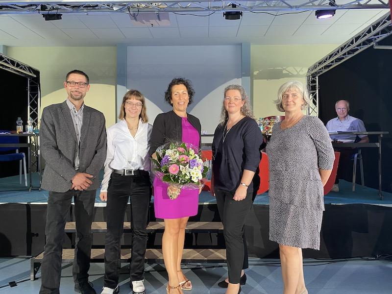 gewählte geschäftsführende Kreisvorstand: Ron Hasenbank-Subklew, Barbara Rohsmeisl, Kristy Augustin, Ulrike Heidemann und Ingrid Pliske-Winter. (v.l.n.r.)